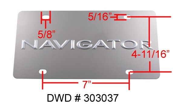 License Plate Holders >> What Are The Dimensions Of Standard License Plate Holes On The Front Of A Vehicle | etrailer.com