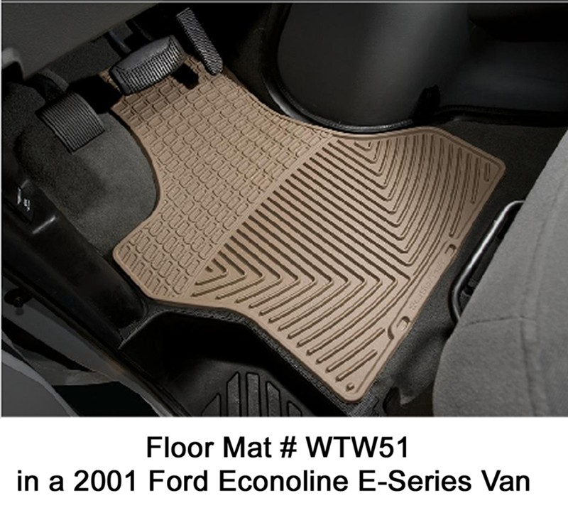 Will WeatherTech Front Floor Mats # WTW51 Fit A 2001 Ford