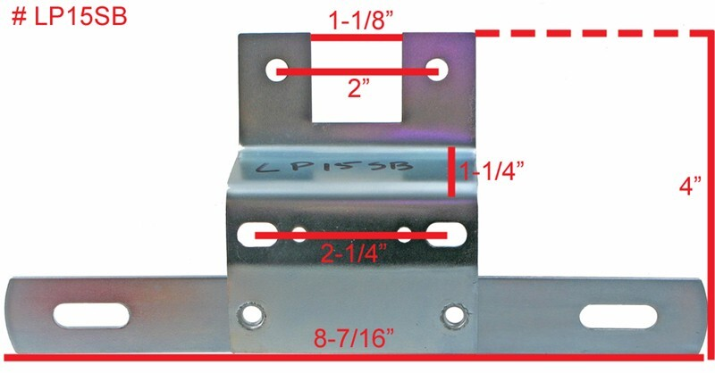Troubleshooting Trailer Lights >> What are the Dimensions of Trailer License Plate Mount Bracket, # LP15SB | etrailer.com