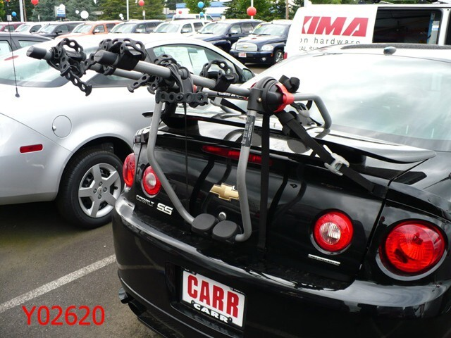 Trunk Mount Bike Rack >> Trunk Mount Bike Rack Recommendation for a 2006 Chevy Cobalt SS with Factory Spoiler | etrailer.com