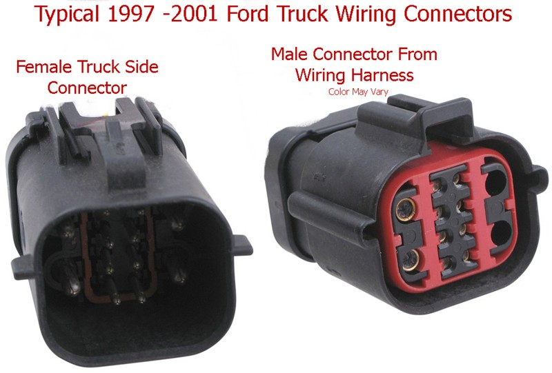 qu24911_800 towing harness factory harness to aftermarket 7 pin ford 1999 f250 trailer wiring harness at fashall.co