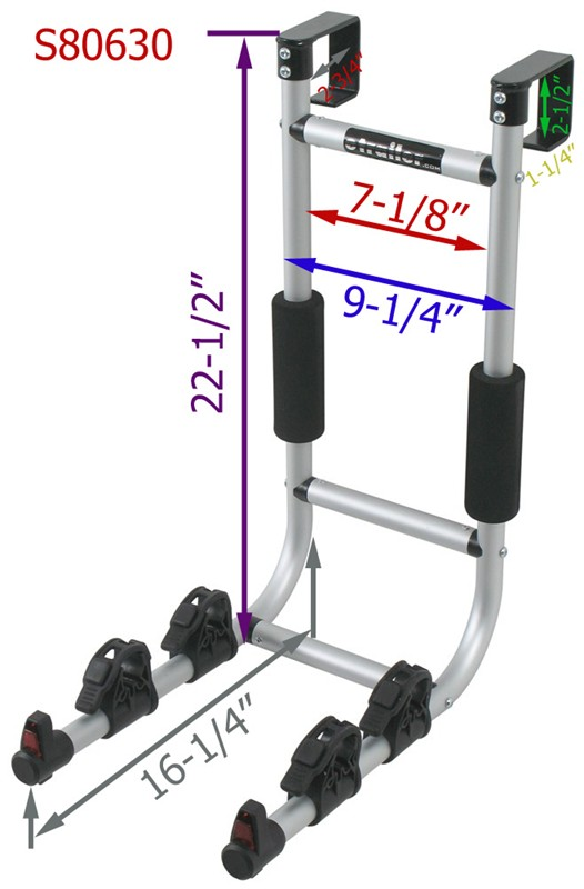 Dimensions For Installation Of The Rv Ladder Bike Rack