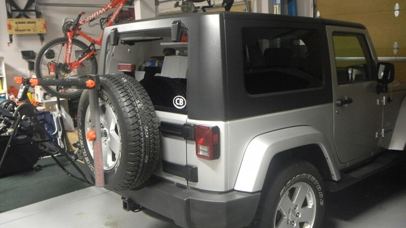 Spare Tire Bike Rack Mounts for a 2008 Jeep Wrangler ...