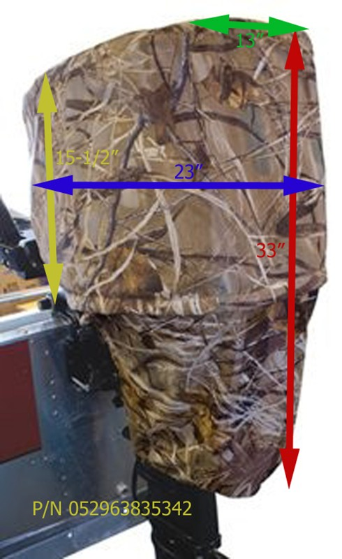 Will The Classic Accessories Camo Motor Cover Fit On A 25