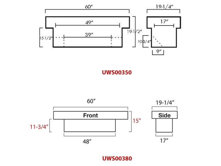 Dimensions For Uws Truck Bed Tool Box Part Uws00380