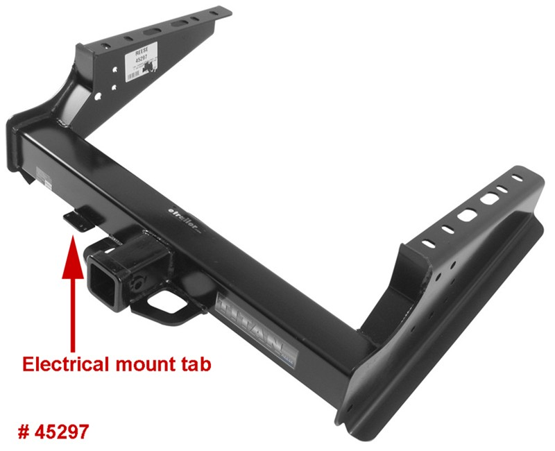 Trailer Hitch Wiring Harness Bracket : Factory wiring mounting bracket is relocated when
