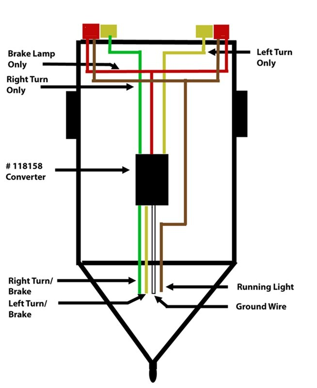 3 wire trailer tail light wiring diagrams
