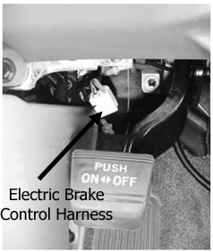 location of the electric brake control harness on a 2012. Black Bedroom Furniture Sets. Home Design Ideas