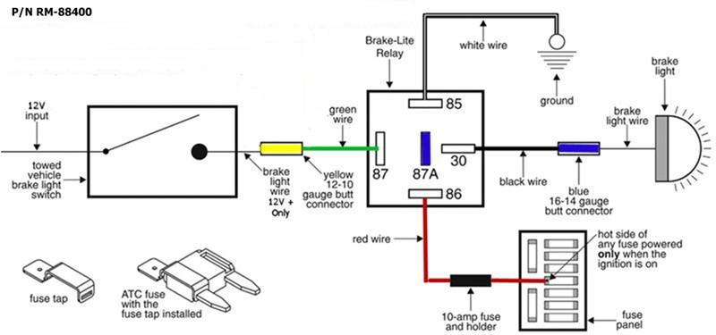 preventing flat towed 2012 wrangler brake light from
