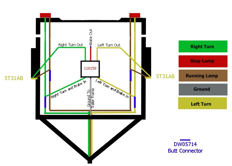 Wiring Diagram For Cargo Trailer Interior Lights : How to install an amber turn and parking light on a