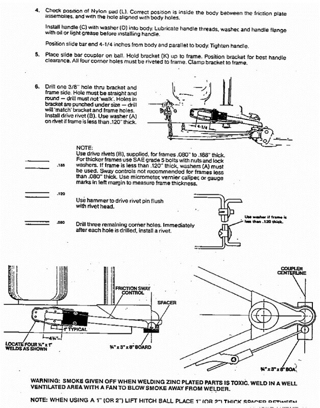 Installation Instructions for the Reese Sway Control ...