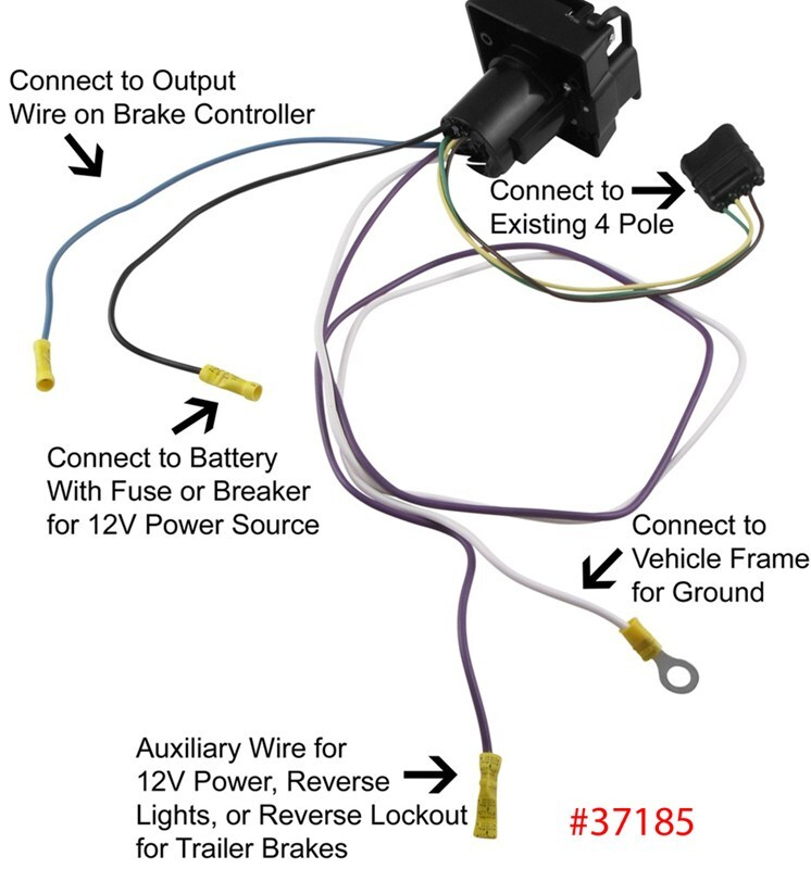 qu51390_800 trailer lights, wiring & adapters at trailer parts superstore land rover discovery 4 trailer wiring diagram at n-0.co