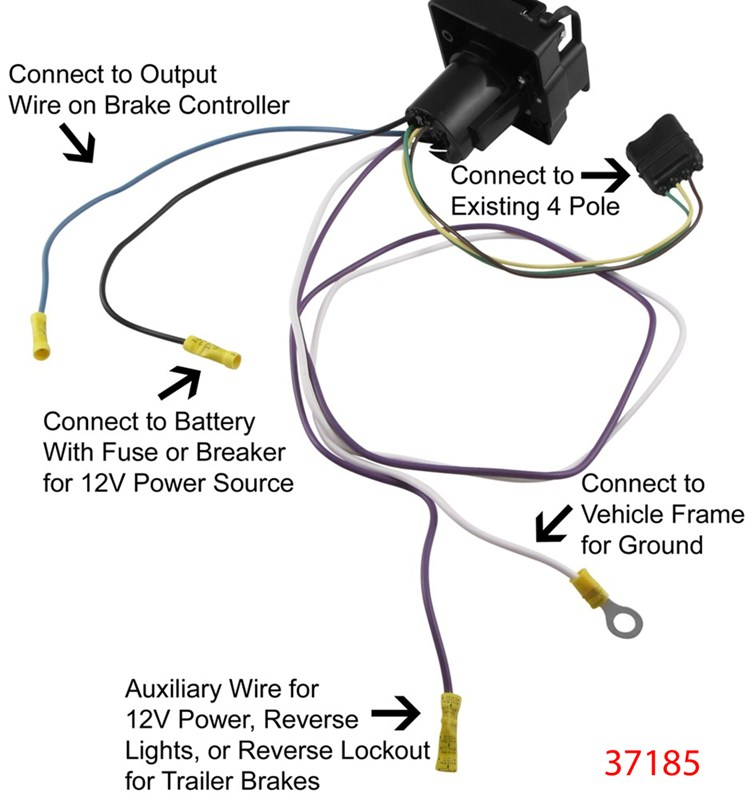 Wiring Instructions For Curt Harness   C55362 W   Pollak 7