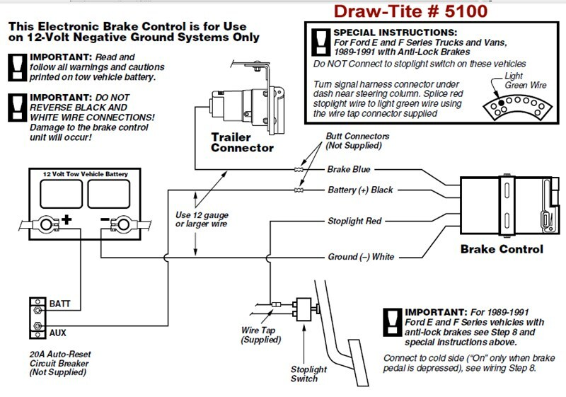 draw tite brake controller wiring diagram valley controller 2008 tundra brake controller wiring diagram draw-tite brake controller # 5100 does not have power ...