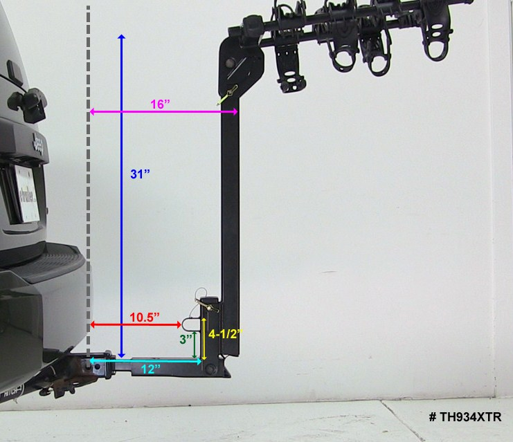 Hitch Mounted Tilting Bike Rack For A 2005 Jeep Liberty