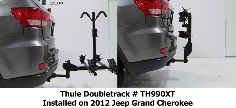 compatibility of thule th990xt doubletrack bike rack with 2012 jeep grand cherokee. Black Bedroom Furniture Sets. Home Design Ideas