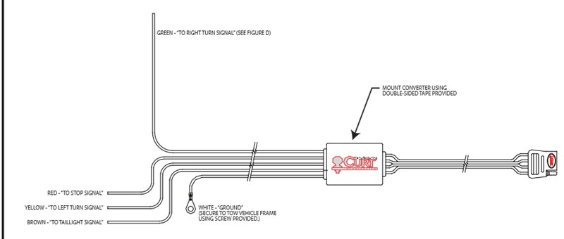 Wiring Diagram For The Curt Trailer Wiring Harness Part