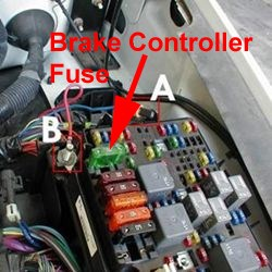 Fuse    Location for Trailer Brake Controller on a 2005 Chevy