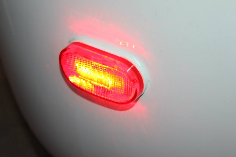 Led Trailer Clearance Side Marker Light With Reflector 2 Wire