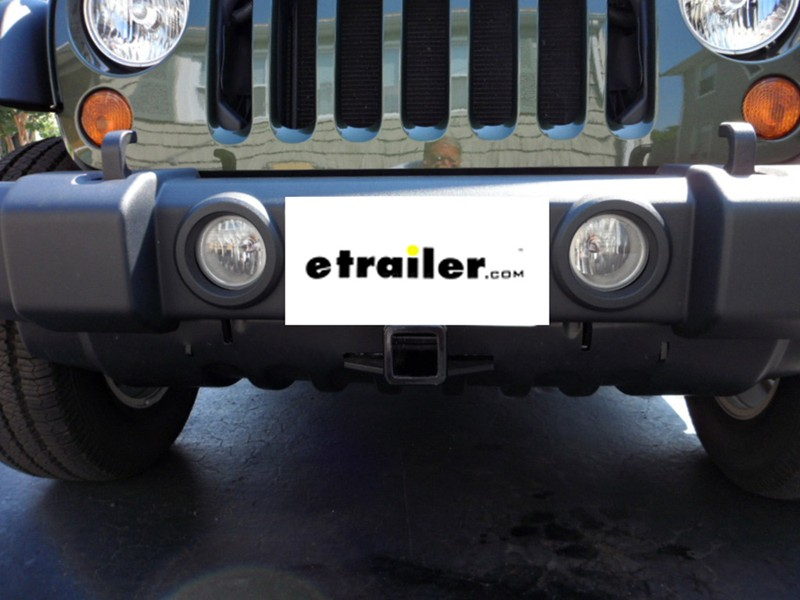 Jeep Wrangler Jk >> Curt Front Mount Trailer Hitch Receiver - Custom Fit - 2 ...