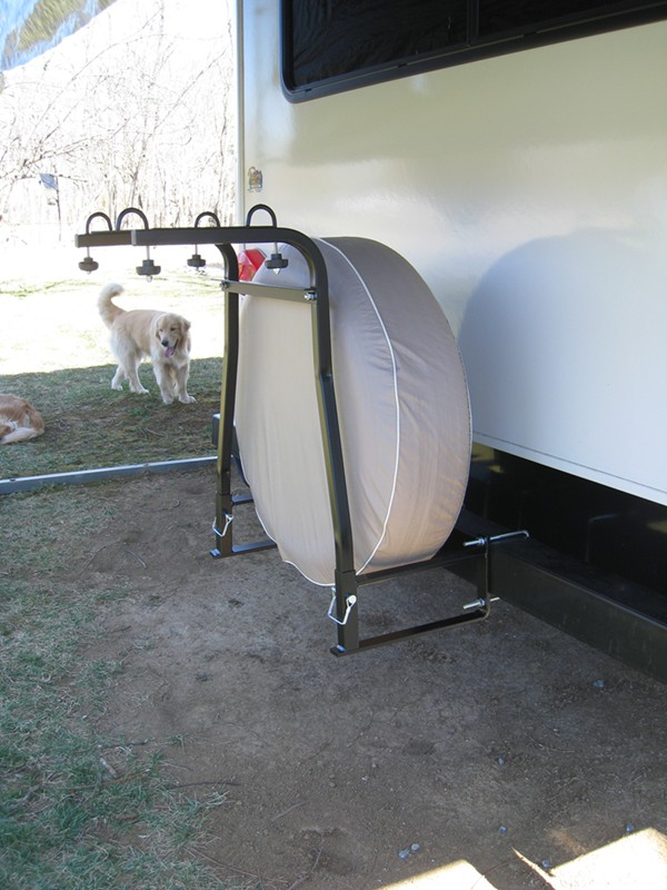 Rv Bumper 2 Bike Rack For Around The Spare Tire Swagman