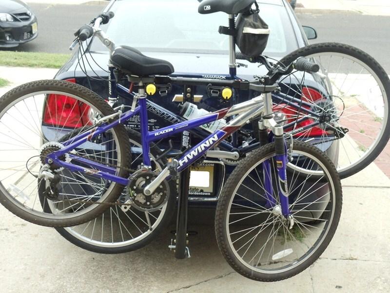 how to put a female bike on rack