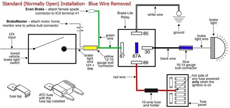 roadmaster brake lite relay kit for towed vehicles roadmaster tow bar braking systems rm 88400