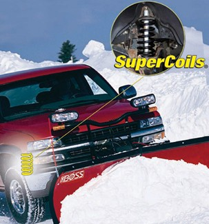 SuperCoils installed on snow plow