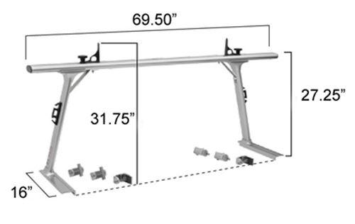 TracRac T-Rac Pro2 Dimensions