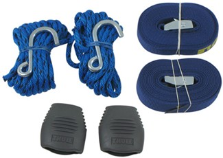 Thule Hull-A-Port tie-down straps and bow/stern tie-downs