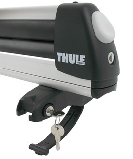 Thule Flat Top ski carrier accepts OKS cylinders