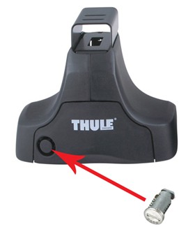Thule Traverse foot pack accepts OKS cylinders