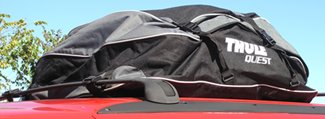 detail of bag on installed on vehicle