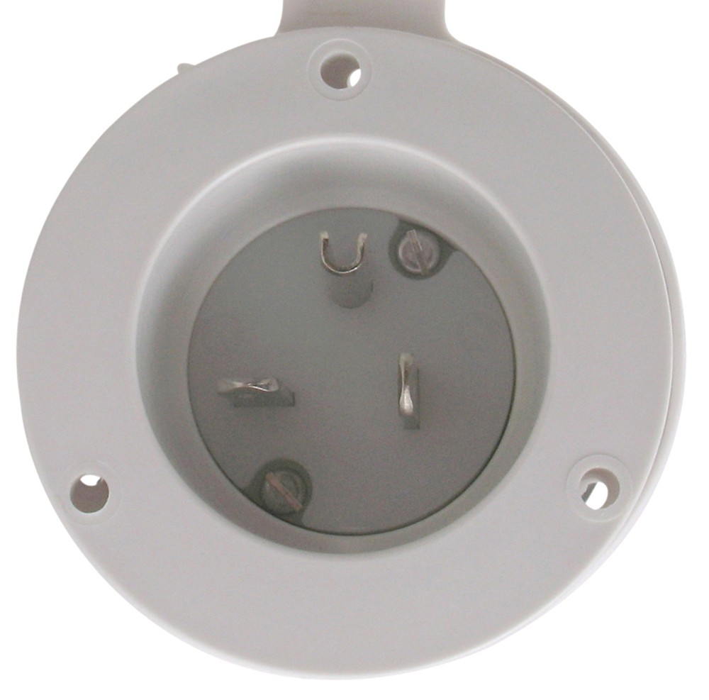20 Amp Power Inlet with Cover, Male Connectors Marinco
