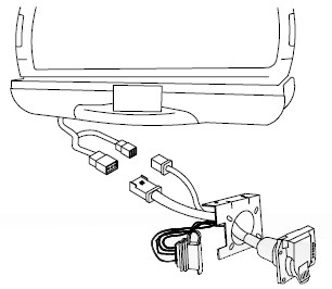20137 on vehicle wiring harness with 4 pole trailer connector