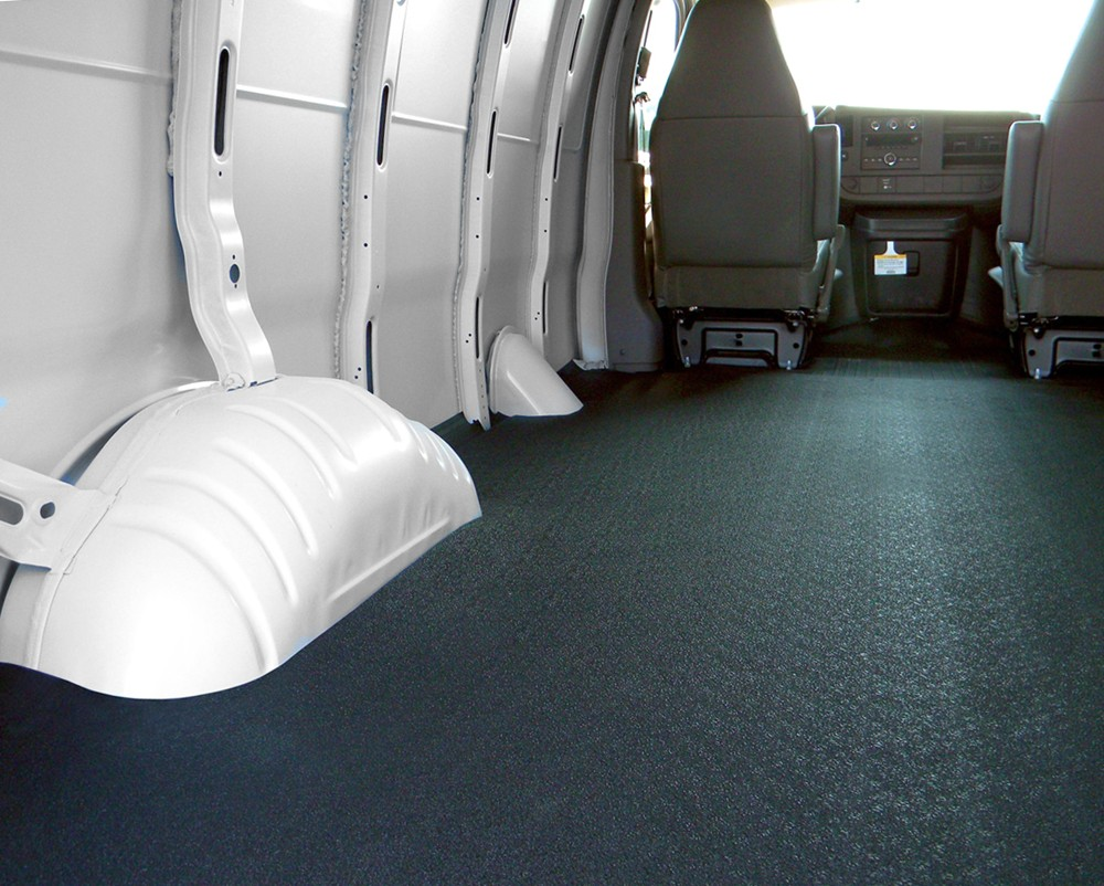 Vantred Custom Floor Mat For Cargo Vans Charcoal Gray