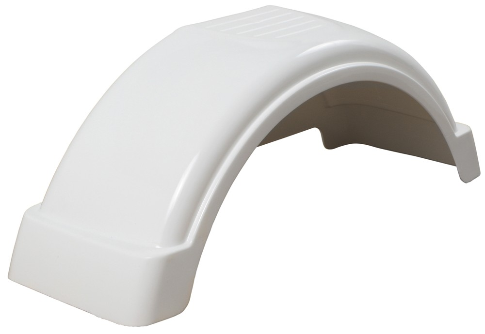 Plastic Fenders For Trailers : Fulton single axle trailer fender with top step white
