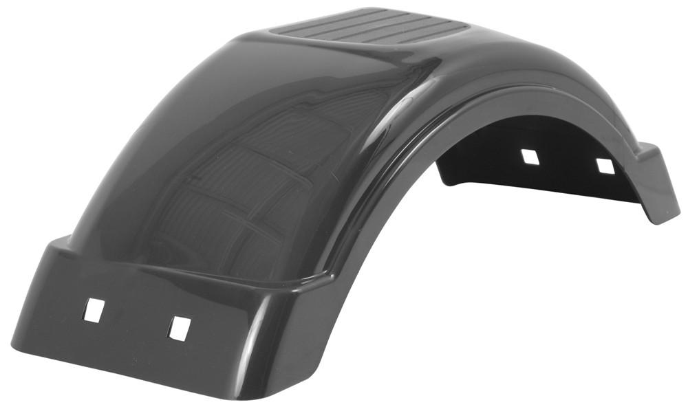 Plastic Fenders For Trailers : Single axle trailer fender w top step style c black