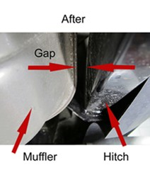 Muffler with enough clearance to prevent rattle
