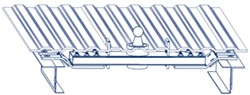 Cutaway of truck bed showing Blue Ox underbed rail mounting system