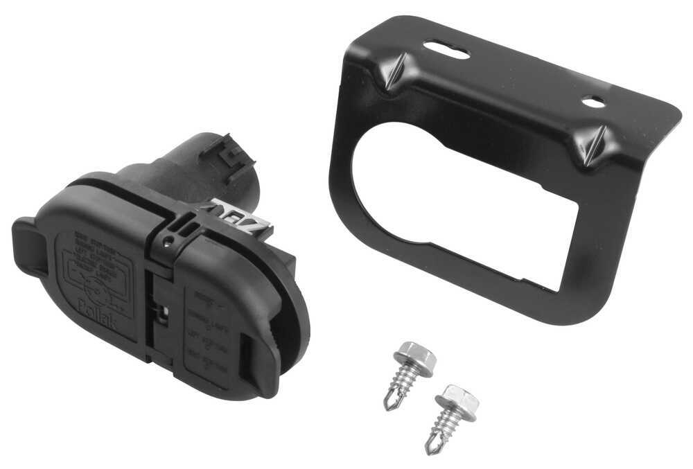 Pollak 7- And 4-pole Trailer Connector Socket W   Mounting Bracket
