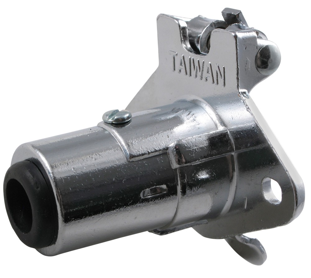 Pollak Heavy-duty  4-pole  Round Pin Socket  Concealed Terminals - Chrome