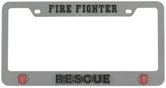 firefighter rescue license plate frame siskiyou license plates stf805