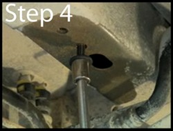 Using a Ratchet to Thread Bolt In and Out of Weld Nut