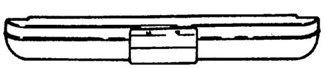 drawing of a standard bumper