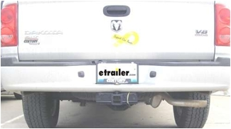 Valley 2-Inch Trailer Hitch Receiver - Dodge Dakota pickup