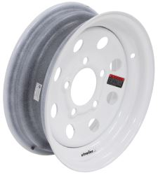 "Steel Mini Mod Trailer Wheel - 12"" x 4"" Rim - 5 on 4-1/2 - White Powder Coat"