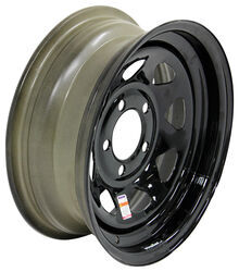"Dexstar Steel Spoke Trailer Wheel - 14"" x 5-1/2"" Rim - 5 on 4-1/2 - Black Powder Coat"