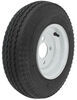 "Kenda 4.80/4.00-8 Bias Trailer Tire with 8"" White Wheel - 4 on 4 - Load Range B"