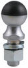 "Greaseless HardBall Hitch Ball with 2"" Diameter and 1"" Shank - 8,000 lbs GTW - Chrome"
